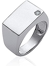 ISADY - Luca - Men's Ring - 925 Sterling Silver - Cubic Zirconia