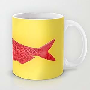 schwedische fisch kaffee oder tee tasse keramik becher mit druck c griff cup 11 oz funny tasse. Black Bedroom Furniture Sets. Home Design Ideas