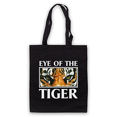 Inspiriert durch Rocky Survivor Eye Of The Tiger Inoffiziell Umhangetaschen Schwarz