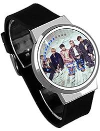 Fanmuran Reloj Digital de Pulsera LED Pantalla táctil Reloj Inteligente KPOP BT21 Coreano Impermeable Reloj Moderno