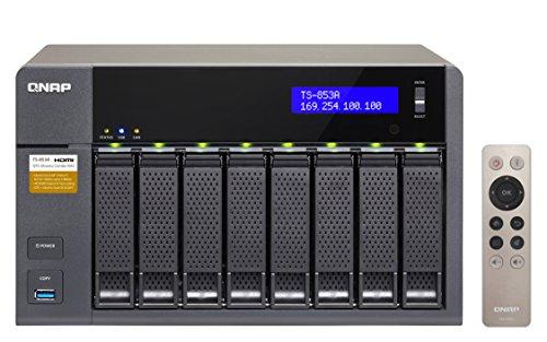 Qnap  TS-853A-4G 32TB (8 x 4TB WDPro) 8-Bay NAS Unit mit 4GB RAM rot | 5051868304149