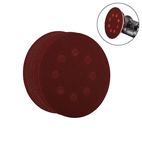 OxoxO 78pcs Sanding Discs 5 Inch 8 Hole Circular Dustless Hook and Loop Sandpaper Disks Orbital Sander Pads (12 Discs Each of 60 80 100 120 180 240 320) (Sander Pad 12 Disc)