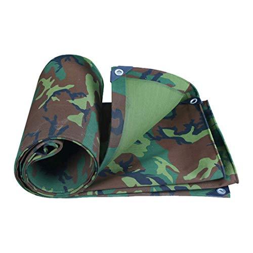 HG Tarps Sonnensegel Camouflage verdicken Canvas mit Ösen Heavy-Duty-Regenschutzplane Sonnenschutzplane wasserdichtes Schupptuch, 500g / m² (größe : 2mx2m)