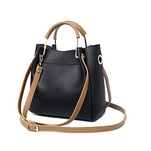 re Umhängetasche schlanke minimalistische lässige Big Bag Handtasche schwarz ()