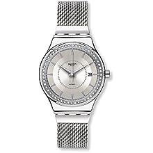 Swatch Mixte Analogique Classique Automatique Montre avec Bracelet en Acier Inoxydable YIS406GA
