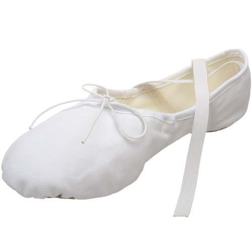 Capezio Men's Canvas Romeo Ballet Shoe,White,13 W US