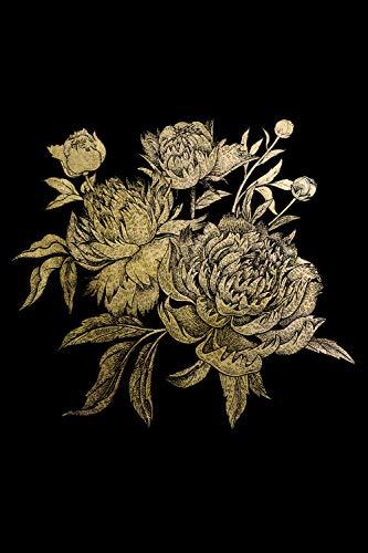 Queence   Acrylglasbild mit Blattgold   Wandbild Glasbild Acrylbild Rahmenlos   Blumen   Druck auf Acrylglas   Goldveredelung   Größe: 40x60 cm