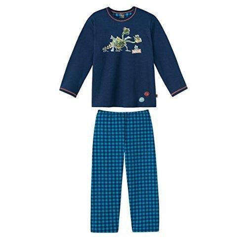 Schiesser Jungen Schlafanzug Lang 144804, dunkelblau, 104