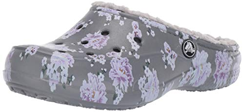 Crocs freesail printed lined clog women, zoccoli donna, multicolore (floral/pearl white 96m), 37/38 eu
