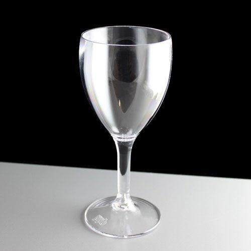 Virtually Unbreakable Polycarbonate 255ml Wine Glass by BB Plastics