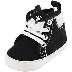 Amlaiworld Ragazze bambino presepe scarpe da ginnastica precamminatore Canvas (13, nero)