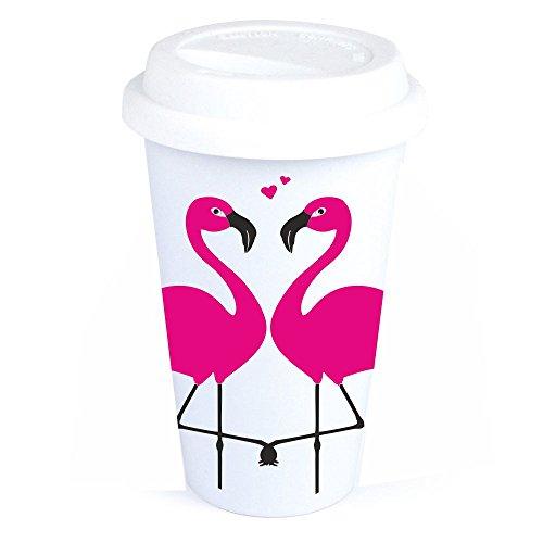 Coffee-to-Go-Becher mit Flamingo-Motiv - Geburtstagsgeschenk - Kaffeebecher - Coffee to go -...
