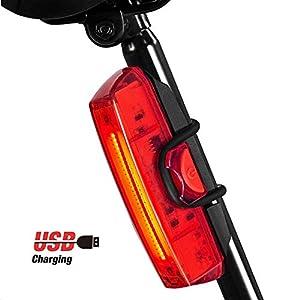 41sK6XBwlDL. SS300 Rodzon Fanale Posteriore Bici. Luce in Bicicletta USB Ricaricabile per Bicicletta 6 modalità Luce Accessori LED a Luce Rossa per Qualsiasi Bici da Strada, Casco. Facile da installare