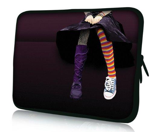 Luxburg® Design Laptoptasche Notebooktasche Sleeve für 17,3 Zoll, Motiv: Strümpfe Strümpfe