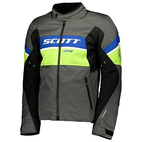 Scott SportR DP Blouson Motorrad Jacke grau/gelb/blau 2018: Größe: XXL (54/56) (Motorrad-jacke Mesh-tech)