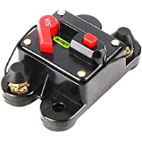 Wafalano 50A 60A 80A 100A 125A 150A 200A 250A Opcional Fusible de Interruptor de Circuito de Audio para automóvil en línea para protección 12V SKCB-01-100A