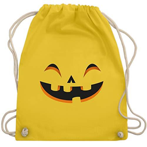 Halloween - Kürbisgesicht Kostüm - Unisize - Gelb - WM110 - Turnbeutel & Gym Bag