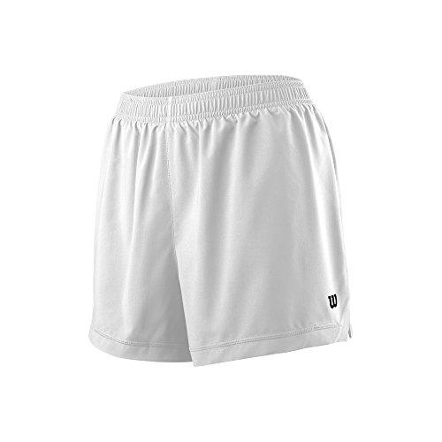 848c42ceb2 Wilson Femme Short de Tennis, W TEAM 3.5 SHORT, Polyester, Blanc, Taille