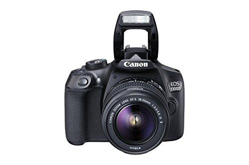 "Canon EOS 1300D - Cámara réflex de 18 Mp (pantalla de 3"", Full HD, 18-55 mm, f/1.5-5.6, NFC, WiFi), color negro - Kit con objetivo EF-S 18-55 mm f/3.5-5.6 IS II"