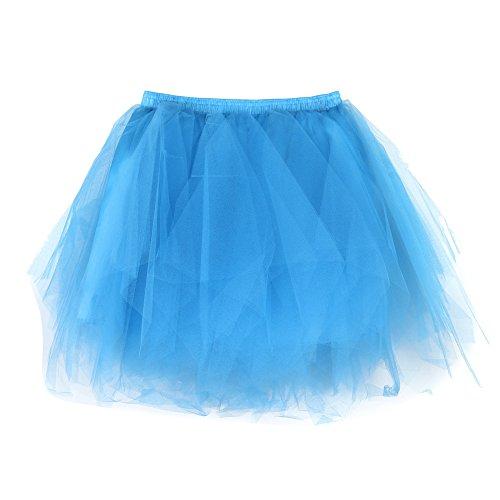 OverDose Damen Karneval Mode Stil Frauen Hohe Qualität Gefaltete Gaze Kurzen Rock Erwachsene Tutu Tanzen Rock Samba Kleid Cosplay Bunte ()