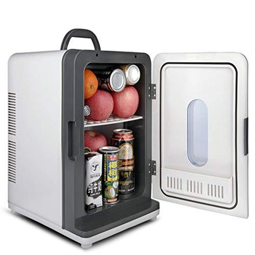 WJSWBX 18L 12V DC 220V AC Dual-Core-Kälteheizung Kühlschrank Kühlschrank Mini-Kühlschrank Kleinstkühlschrank für Privathaushalte Auto-Kühlschrank mit doppeltem Verwendungszweck