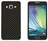 #5: GadGetsWrap Samsung Galaxy A3 Black Carbon Sticker Skin for Front and Back.