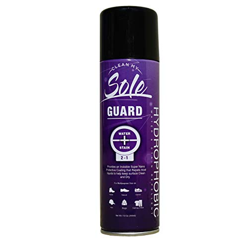 Clean My Sole Guard -Multipurpose All Natural Hydrophobic Instant Water Rain and Stain Repellent for Shoes, Sneakers, Clothing, Backpacks and Hats |Great for Leather, Suede, Canvas |7.5 Oz/300ml.