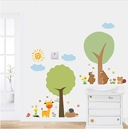 ll Sticker Home Decals DIY Cartoon Wallpaper for Baby Bedroom PVC Decoration Posters Promotion ()