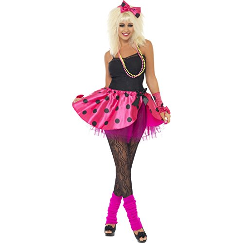Neon Damenkostüm 80er Jahre Kostüm S 36/38 Popstar Tutu Haarband Armstulpen Retro Party Outfit Vintage Mottoparty Verkleidung Madonna Faschingskostüm Karneval Kostüme Damen (80er Jahre Retro Kostüme)