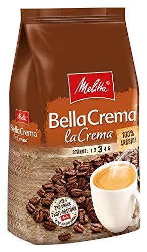 Melitta Ganze Kaffeebohnen, 100% Arabica, vollmundig und ausgewogen, Stärke 3, BellaCrema LaCrema, 8er Pack (8 x 1 kg)