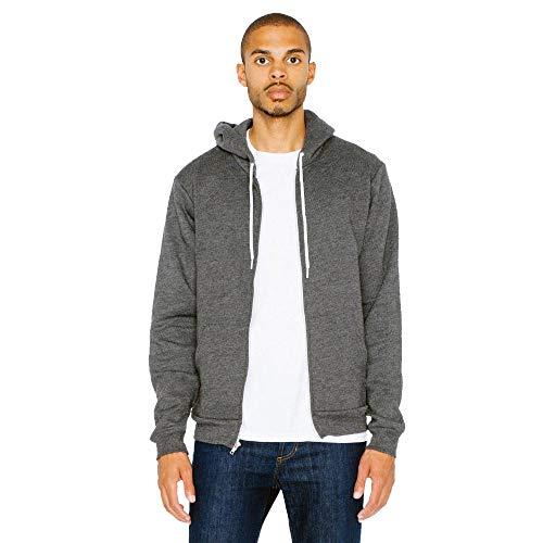 American Apparel - Unisex Flex Fleece Zip Hoodie / dark heather grey, M 50-fleece-zip-hoodies