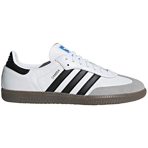 adidas Herren Samba Leder White Black Granite Trainer 42 EU