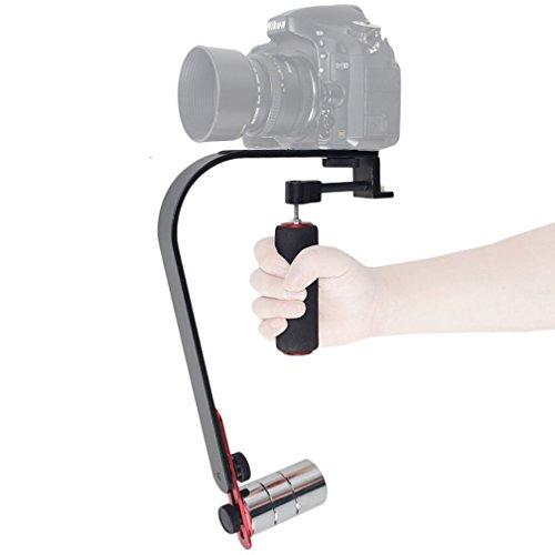 ASHANKS Video Steadycam Stabilizzatore per fotocamera digitale compatta iPhone dslr per Canon Nikon Sony Gopro hero Pentax Camcorder DV