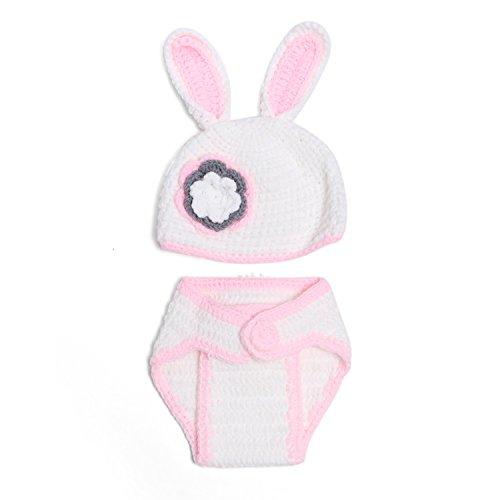 trick Kostüm Fotoshooting Baby Fotos Ostern Bunny Weiß / Rosa (Bunny-kostüme Für Babys)