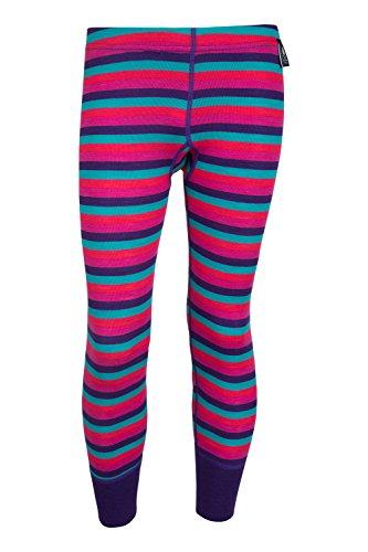 Mountain Warehouse Merino Kids Striped Pants Baselayer Zip Neck Base Layer Outdoor Antibacterial Sport Test