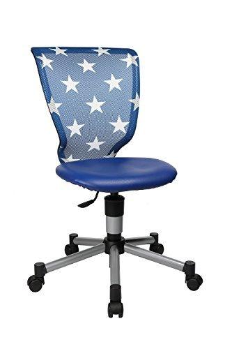 Topstar Kinder Drehstuhl Bürostuhl Titan Junior blau Sterne