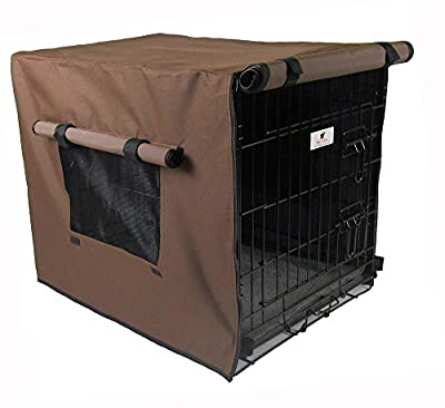 Settledown Waterproof Dog Crate Cover, 36-Inch, Bronze