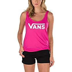 Camiseta Sin Mangas Mujer Vans Flying V Beetroot Morado (M , Morado)