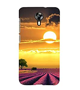 PrintVisa Sun Shine Pattern 3D Hard Polycarbonate Designer Back Case Cover for Micromax Canvas Xpress 2 E313