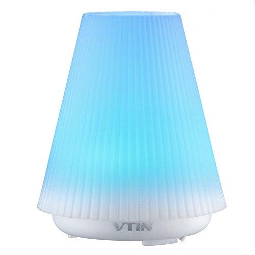 VicTsing 100ml Humidificador Aromaterapia Ultrasónico, Portátil Difusor de Aceite Esencial, 7 Colores Cambiados de Luz, Auto-Apaga, Dormitorio, Hogar, Oficina