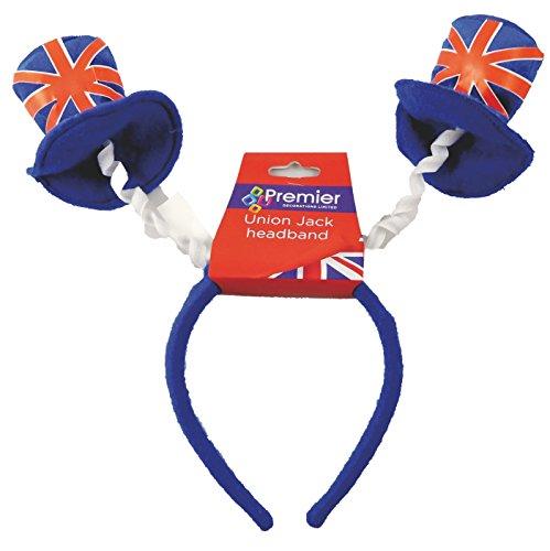 Union Jack-Stirnband mit Top-Hüte - Fascinator Stirnband - ()