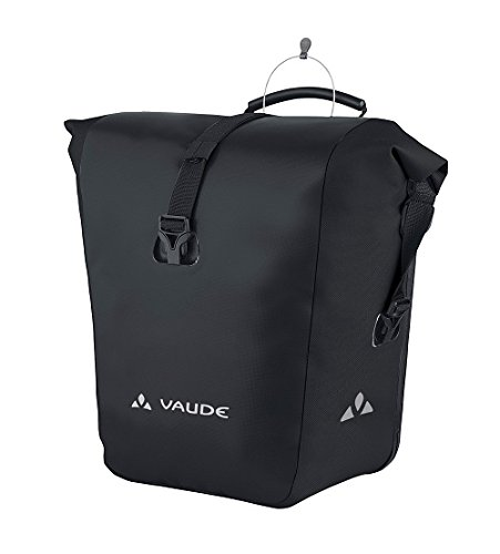VAUDE Radtasche Aqua Front, black, 31 x 30 x 17 cm, 28 Liter, 10916 Black