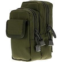 kalaokei táctico portátil bolsa de camuflaje cinturón cintura bolsa de transporte Militar bolsillo para el teléfono, Army Green