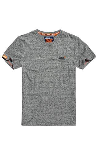 Superdry Herren ORANGE Label Vintage EMB Tee T-Shirt, Grau (Flint Steel Grit A3Z), XXX-Large -