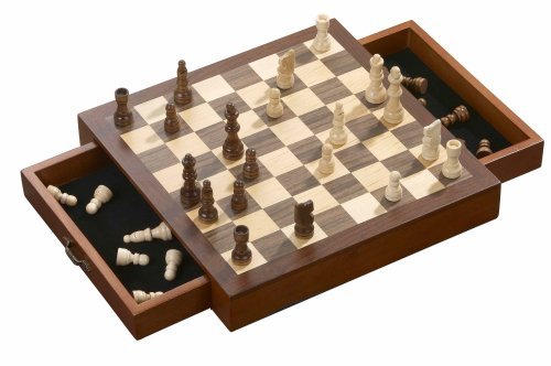 Philos 2713 - Schachkassette, Feld 33 mm, Königshöhe 62 mm, magnetisch (Set Chess Board)