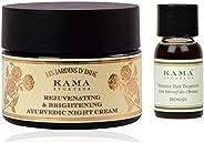 Kama Ayurveda Rejuvenating and Brightening Ayurvedic Night Cream 50g, Bringadi Intensive Hair Treatment 8ml Co