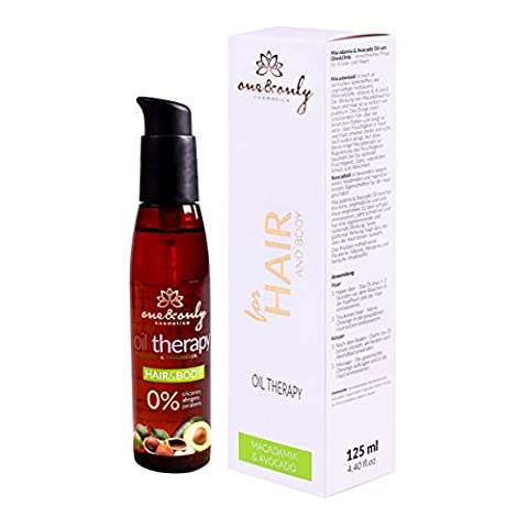 One&Only Cosmetics Oil Therapy Haare&Körper, Farbe: Macadamia & Avocado, 1er Pack (1 x 125 g)