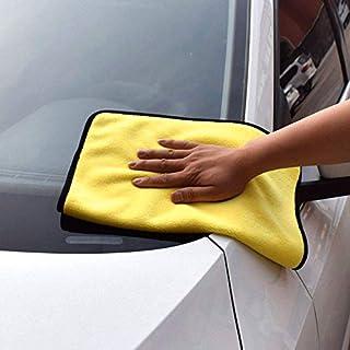 NOVSIGHT Microfiber Mitt Car Wash Mitt Microfiber Wash Gloves Car Cleaning Microfiber Mitt Yellow