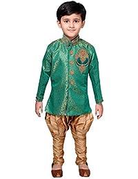 Desi Sarees Jungen Indo Western Fusion Sherwani Pyjama EB 951
