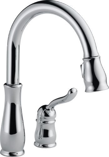 41sKGMKLtqL - NO.1# FAUCET Delta 978-DST Leland Single Handle Pull-Down Kitchen Faucet, Chrome by DELTA FAUCET Reviews Best buy  uk compare
